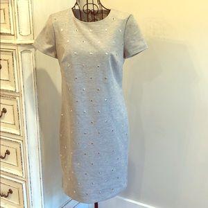 Michael Kors Gray Studded Sheath Dress
